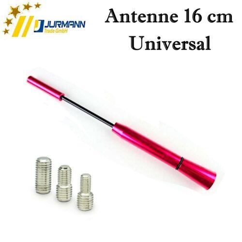 Universal 16 cm Pink Dach Autoantenne AM FM mit 3 Adapter M4 M5 M6 für Audi