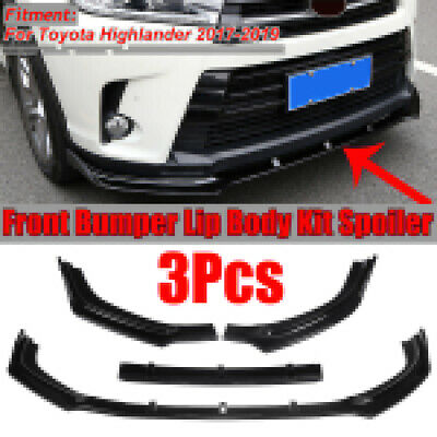 S SIZVER Carbon Paint Look Front Bumper Body Kit Spoiler Lip 3PCS Compatible with 2018-2020 Accord
