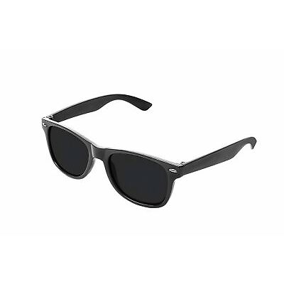 Flat Revo Colour Lens Large Horn Rimmed Style Sunglasses Includes Pouch - UV400