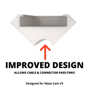 WYZE Cam V3 Right-Angle Corner Mount Holder wider viewing angle for security