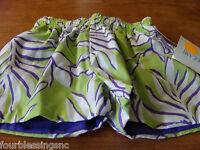 Patsy Aiken Chez Ami Boys Swimwear Sz. 12 Month-nwt-reversible-lime/purple