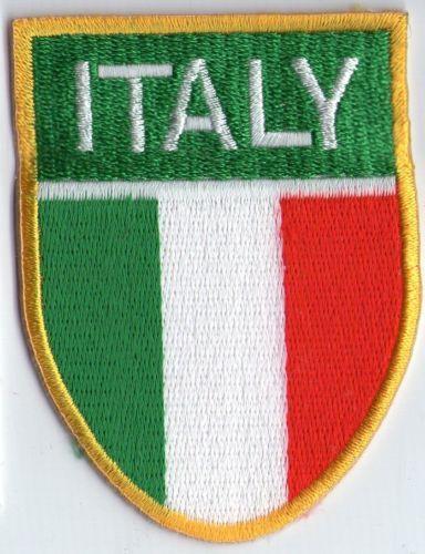 écusson ECUSSON BRODE PATCHE PATCH THERMOCOLLANT DRAPEAU ITALIE ITALY DIM 7X5 CM