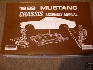 1969 ford mustang mach 1 boss chassis assembly manual ebay rh ebay com Boss 302 Logo Boss 302 Engine