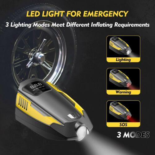 12V 150PSI Portable Car Air Compressor Pump,Digital Tire Inflator with LED Light
