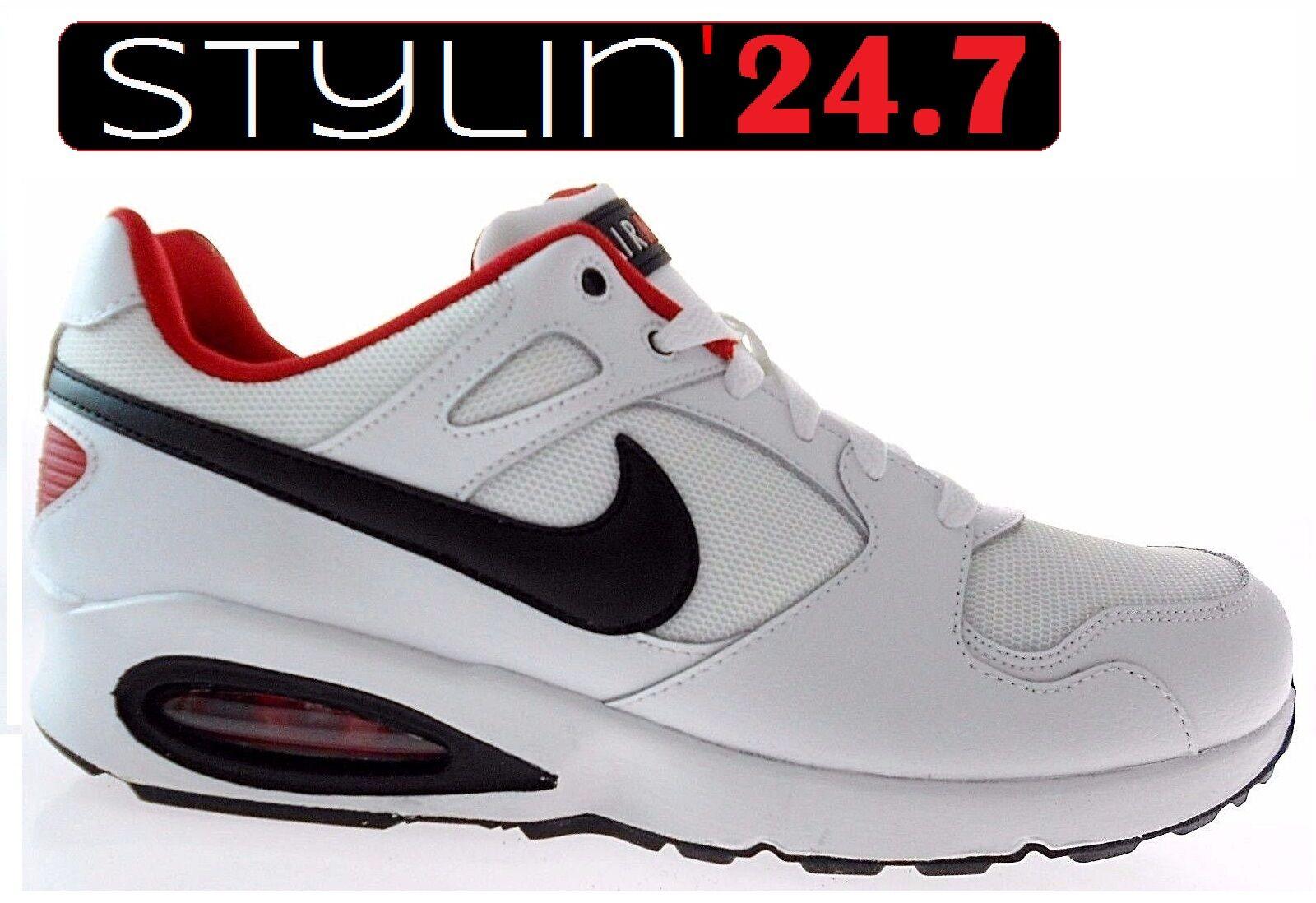 NIKE AIR MAX COLLISEUM RACER Blanc/Noir/Rouge RUNNING Chaussures, 555423-102