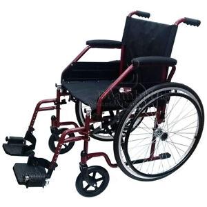 Sedia a rotelle per disabili e anziani carrozzina pieghevole leggera seduta 48