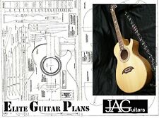 Luthiers Project Plan/Drawing for cutaway acoustic guitar Ideal Gift P007