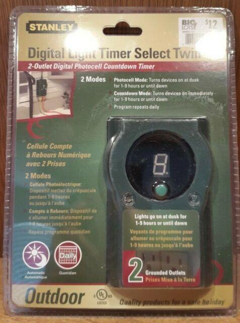New STANLEY-Digital light timer select twin TM-502