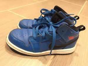 check out 8e991 25cb5 Details about Designer Nike Jordans sneakers Toddler Boys Blue Black  Everyday Bball Size 10