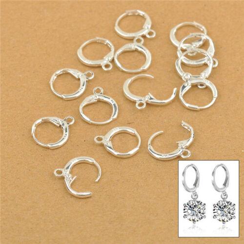 50PCS DIY Handmade Jewelry Findings 925 Silver Lever Back Drop Earring Earwires