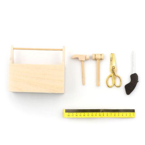 1:12 Dollhouse Miniature Furniture Dollhouse Model Wooden Toolbox JH
