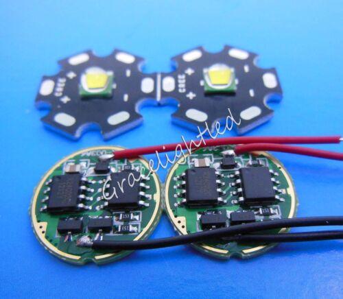 DC3.7V 2.5A LED Dimmer Driver 10W 20mm Cool White Cree XML U2 LED Light Bead