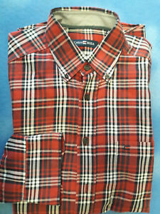 CASA MODA Herrenhemd Langarm Größe M 39 40 rot-weiß-schwarz kariert ... db6c0acf95