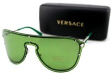 04070d393e item 1 NEW Genuine VERSACE MEDUSA MADNESS Silver Green Shield Sunglasses VE  2180 1000 2 -NEW Genuine VERSACE MEDUSA MADNESS Silver Green Shield  Sunglasses ...