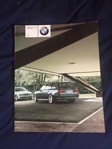 2001-BMW-525i-540i-Deporte-Vagon-Ee-uu-Mercado-Mercado-Color-Folleto-Prospekt