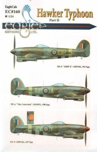 EagleCals EC#160 Decals 1//24 Hawker Typhoon Mk.IB