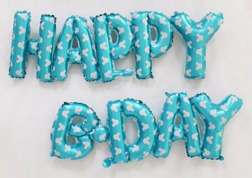 """Happy Birthday b-day supershape foil balloons 56/"""" 141cm xl pink blue CLEARANCE"""