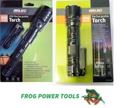 ARLEC DEL Torche Twinpack 650 LM et 300 lm rechargeable USB