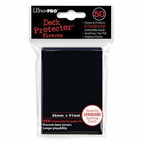 Ultra Pro 82669 Black Standard Deck Protectors 50er