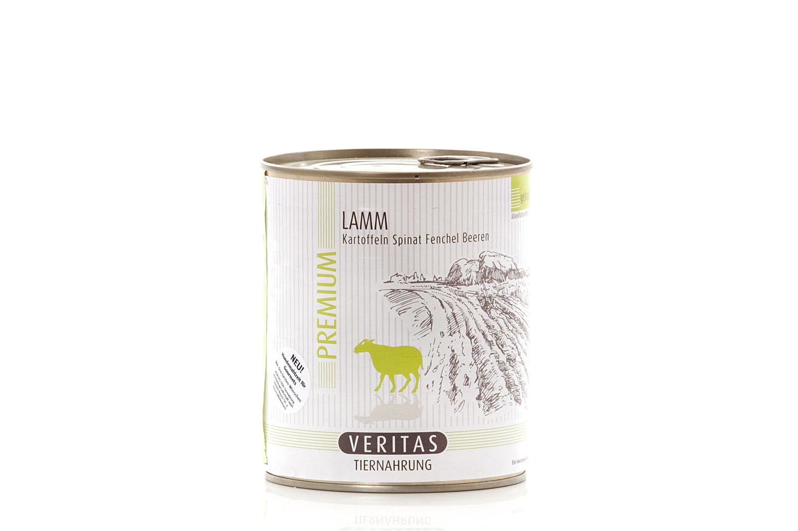 VERITAS Premium Hundefutter - - - Lamm Kartoffeln Spinat Fenchel Beeren 18x800g f4def7