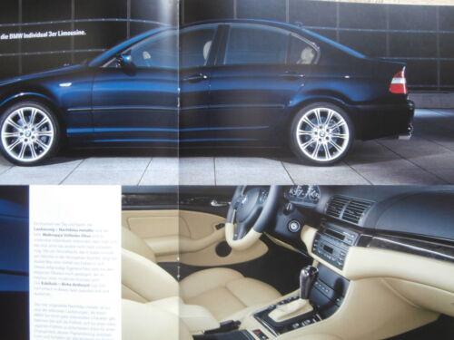 BMW 3er Coupè Cabrio Touring Berlina Compact e46 individual 9//2003 brochure