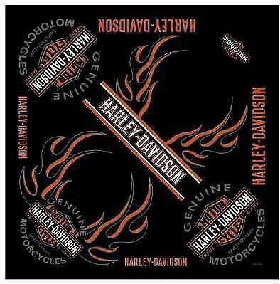 Bandana Multiuso Foulard Biker Harley Davidson Bar & Shield Fiamme Flame Hd Logo