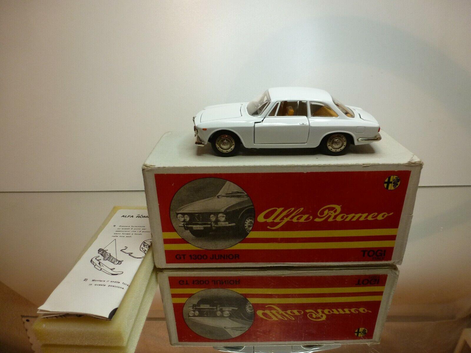 TOGI ALFA ROMEO  GIULIA GT  1300 JUNIOR - blanc 1 23 RARE - EXCELLENT IN BOX  livraison et retours gratuits