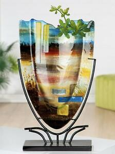 MASSIVE-Magnificent-Abstracto-Art-Glass-Abstract-Vase-On-Stand-amp-Murano-Label
