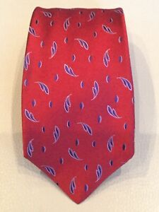 Kiton-Napoli-Red-with-Blue-Silk-Tie-Made-in-Italy