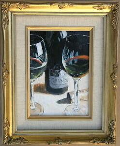 Framed-Oil-Painting-034-Still-Life-II-034-9-x-11-inches
