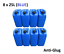 thumbnail 1 - 8 x 25 LITRE 25L PLASTIC BOTTLE JERRY WATER CONTAINER CANISTER ANTI GLUG - BLUE