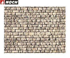 NOCH-H0-TT-57740-Mauerplatte-034-Quaderstein-034-64-x-15-cm-1-m-35-32-NEU-OVP