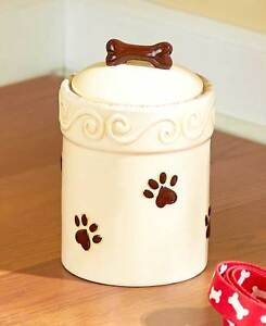 Paw Print Dog Food Container