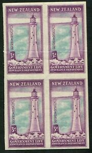 New-Zealand-Officials-1947-65-SG-L46-Lighthouses-3d-imperforate-PLATE-PROOF