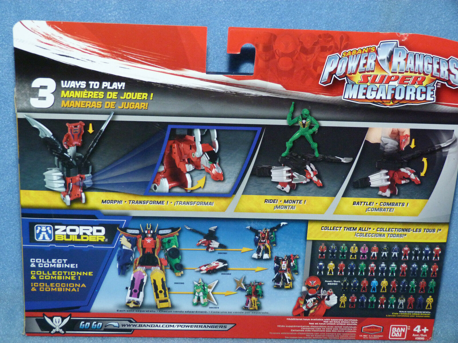 Power Rangers Rangers Rangers Megaforce Mystic Dragon Zord Green Action Figure Toy & Morpher Key 3cbda4