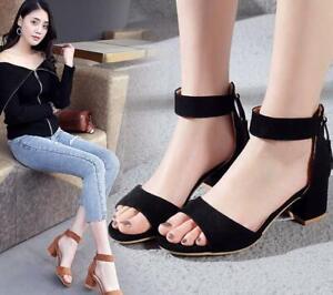 Summer Girls Womens Flat Heels Peep Toe