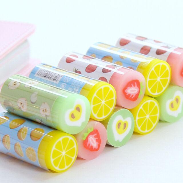 1pc Cute Fruit Pencil Eraser Student School Supplies Children Gift Stationery SH