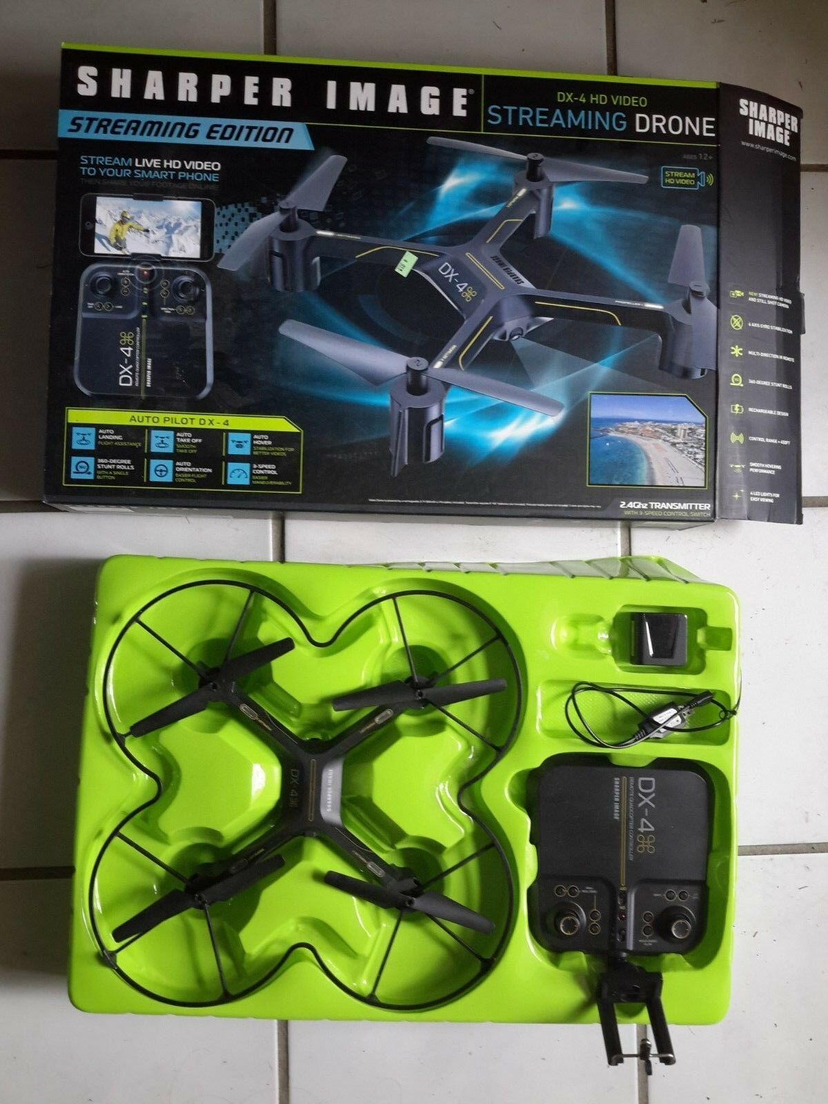 Sharper Image Drone DX-4 Streaming HD Video