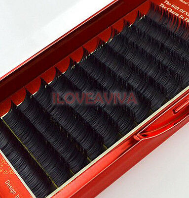 Korea Style  0.15mm C Curl Flat Hairs Black False Eyelashes Individual Extension