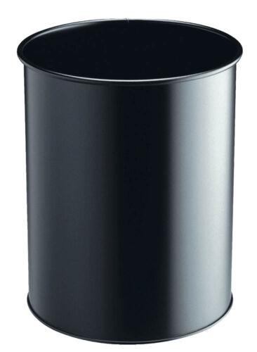DURABLE Papierkorb 15l Stahl schwarz Abfalleimer