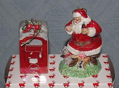 1991 Coca Cola Coke Classic Santa Claus White Porcelain Christmas Xmas Ornament
