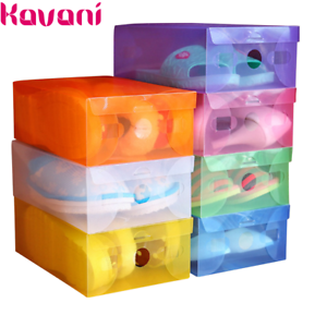 Image Is Loading 1 5pc Clear Plastic Shoebox Colour Drawer Box