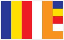 Buddhism Buddha Budda bandiera flag etichetta sticker 13cm x 8cm