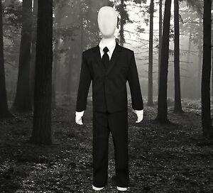 image is loading boys slenderman costume suit for halloween kids of - Halloween Costume Slender Man