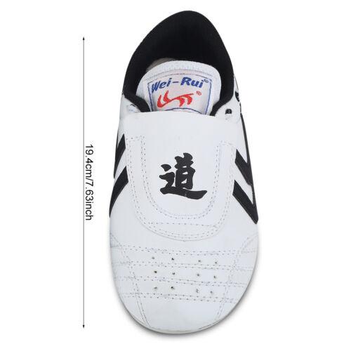 Children Men PU Taekwondo Shoes Martial Arts Karate Training Athletic Shoes