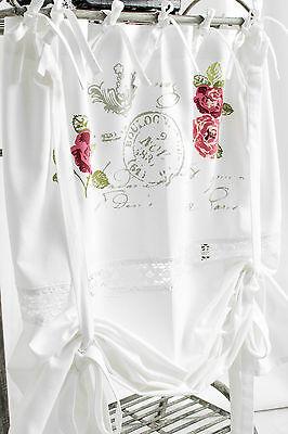 Onafhankelijk Rose Gard Gardine Raffrollo 80/100/120/140/160 Breit Shabby Chic Curtain Franske Om Tot De Eerste Te Behoren Onder Vergelijkbare Producten