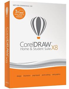 Details about Corel CorelDRAW Home & Student Suite X8 for 3 PC - Graphic  Design Software ✔NEW✔