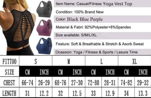 Damen Nahtlos Push up Sport BH Bra Unterwäsche Slim Fit Fitness Yoga Bustier Top