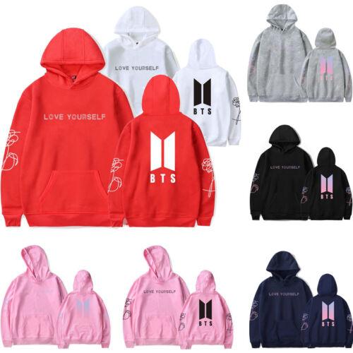 Kpop BTS LOVE YOURSELF Sweatershirt Coat Felpa con cappuccio Cap Hoodie Sweater