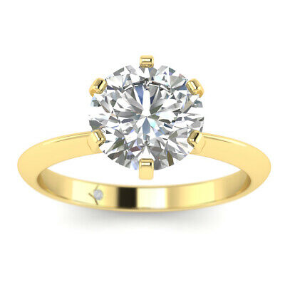 0.7ct D-SI1 Diamond Solitaire Engagement Ring 18K Yellow Gold ANY SIZE   eBay